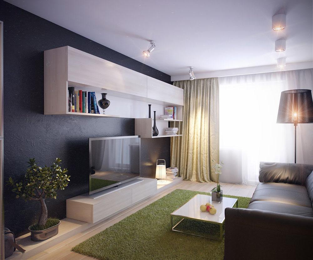 Panloob Na Salas Sa Isang Maliit Na Apartment Multifunctional  # Muwebles Kahulugan