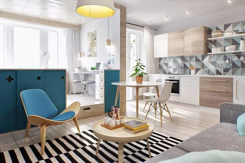 Et værelse lejligheder 30 kvadrater design muligheder