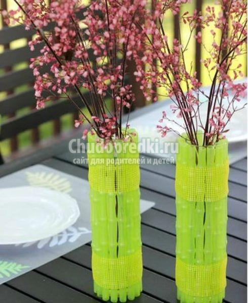 Как оформить вазу своими руками из подручных материалов 28