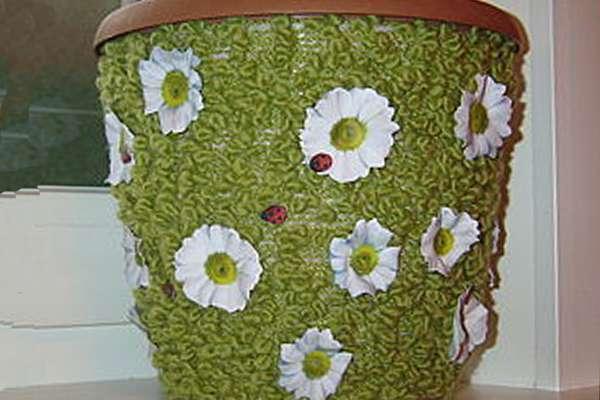 Sketsa Bunga Untuk Ukiran Chamomiles Terbuat Dari Kertas Berwarna