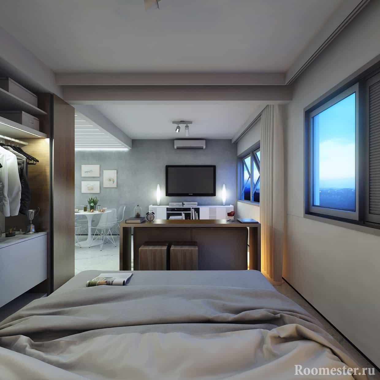 Стильный дизайн квартиры 30 метров.