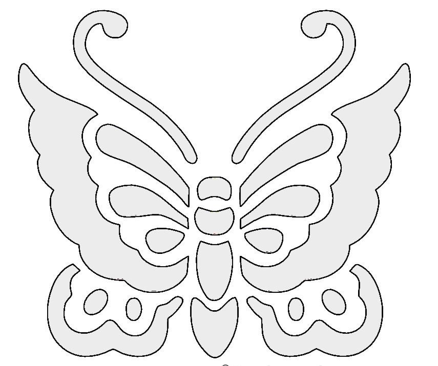Kağıttan Yapılmış Kelebek örnekleri Kapronun Kelebeklerini Kendi
