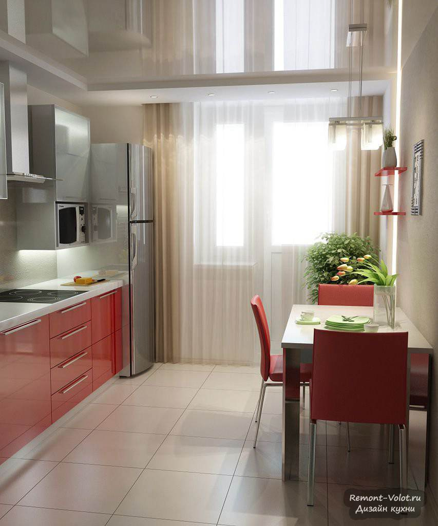 """Тюль для кухни с балконной дверью фото """" современный дизайн ."""