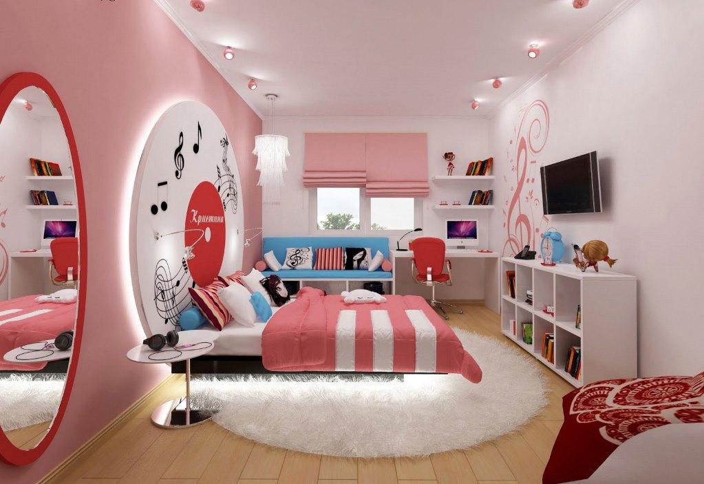 Фото интерьер комнаты для девочки 13 лет
