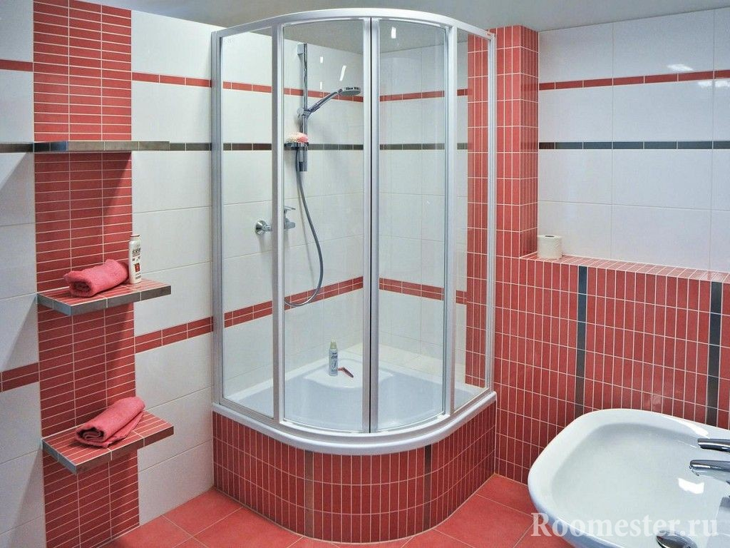 Design of a small combined bathroom with shower. How to design a ...