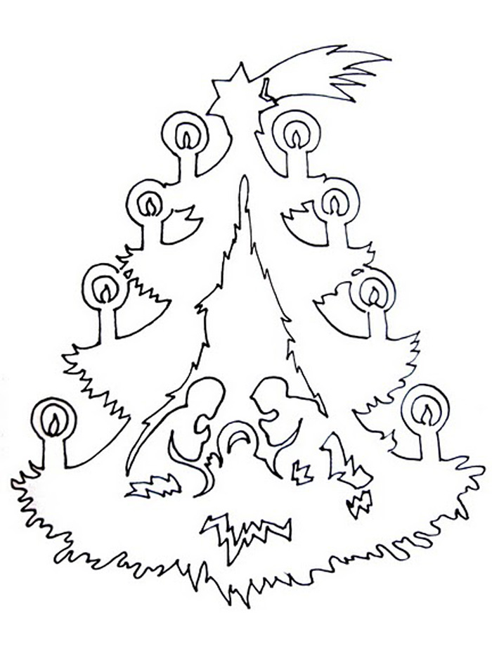 Новогодние вытынанки для открыток шаблоны
