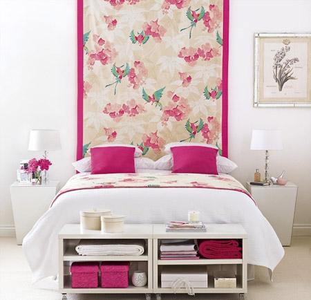 Designet af det rosa soveværelse. Pink soveværelse - en dristig ...