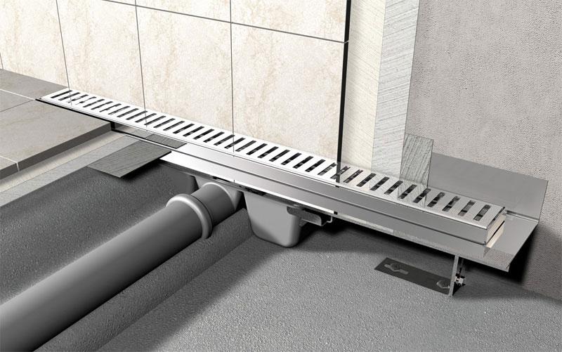 Стяжка с уклоном для слива в полу