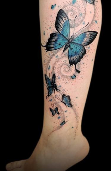 тату женские бабочки фото