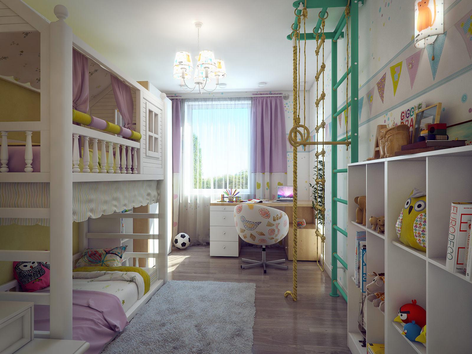 Планировка маленькой комнаты для двух
