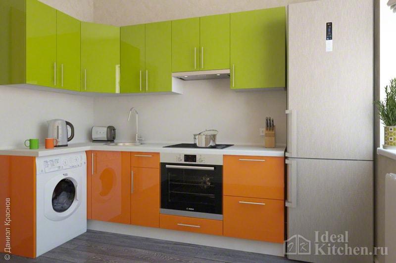 Kako dobiti željenu boju  Orange i Brown  Orange kitchen set