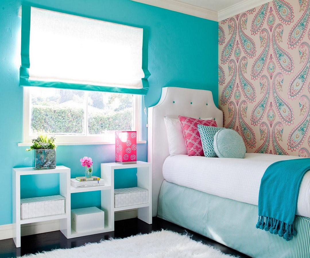 бирюзовый цвет в детской комнате для мальчика фото Иуда